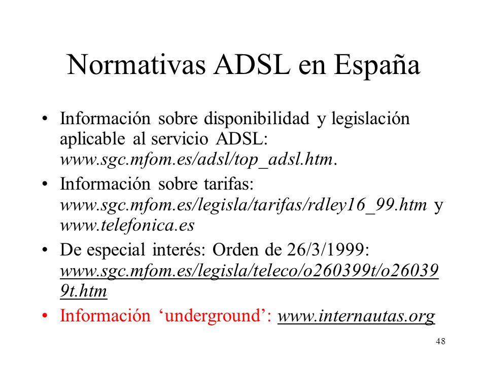 Normativas ADSL en España