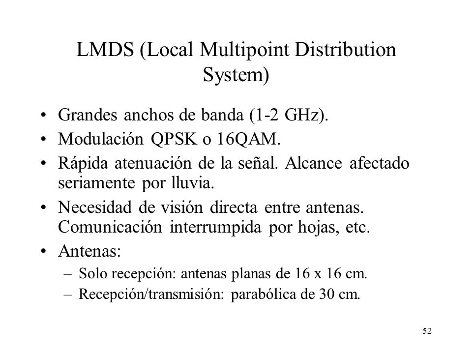 LMDS (Local Multipoint Distribution System)