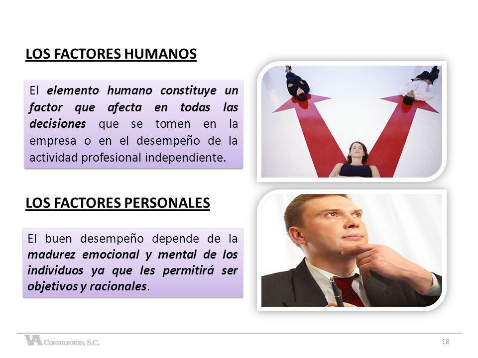 LOS FACTORES PERSONALES