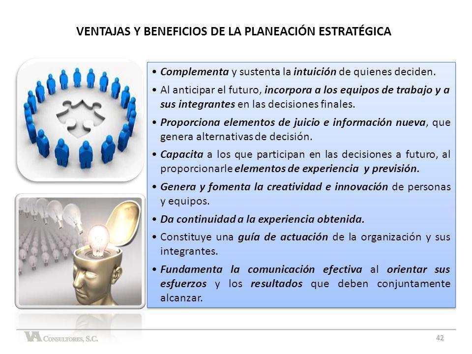 VENTAJAS Y BENEFICIOS DE LA PLANEACIÓN ESTRATÉGICA