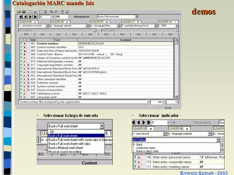 demos Ernesto Spinak - 2003