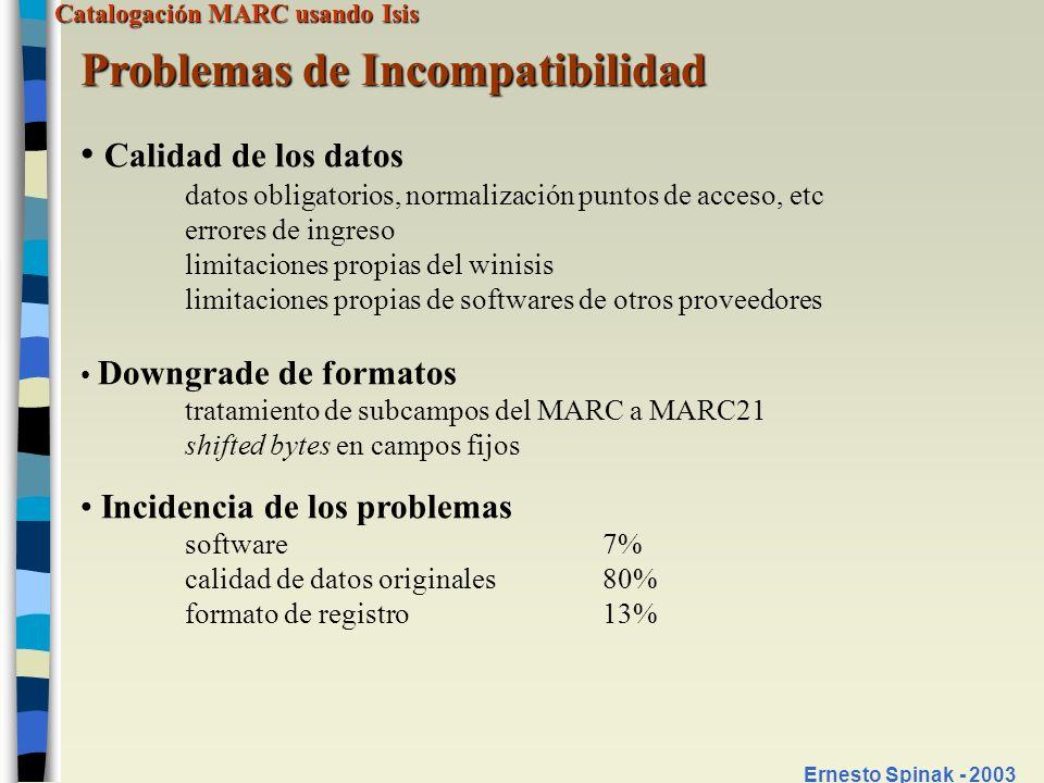 Problemas de Incompatibilidad