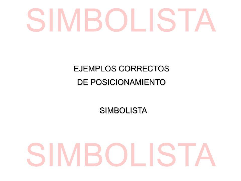 EJEMPLOS CORRECTOS DE POSICIONAMIENTO