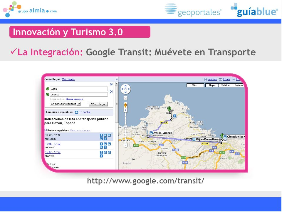 La Integración: Google Transit: Muévete en Transporte
