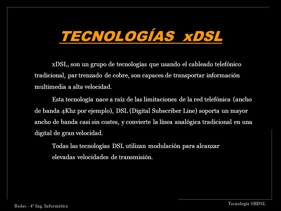 Redes - 4º Ing. Informática