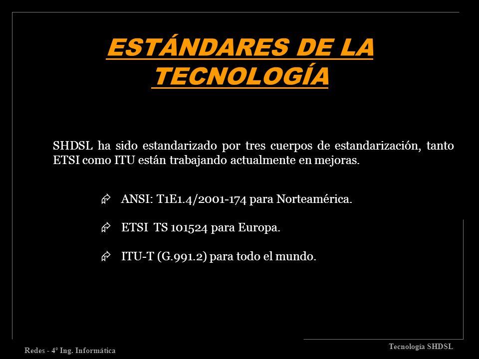ESTÁNDARES DE LA TECNOLOGÍA