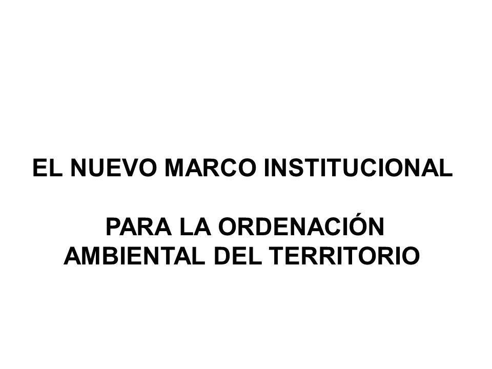 EL NUEVO MARCO INSTITUCIONAL