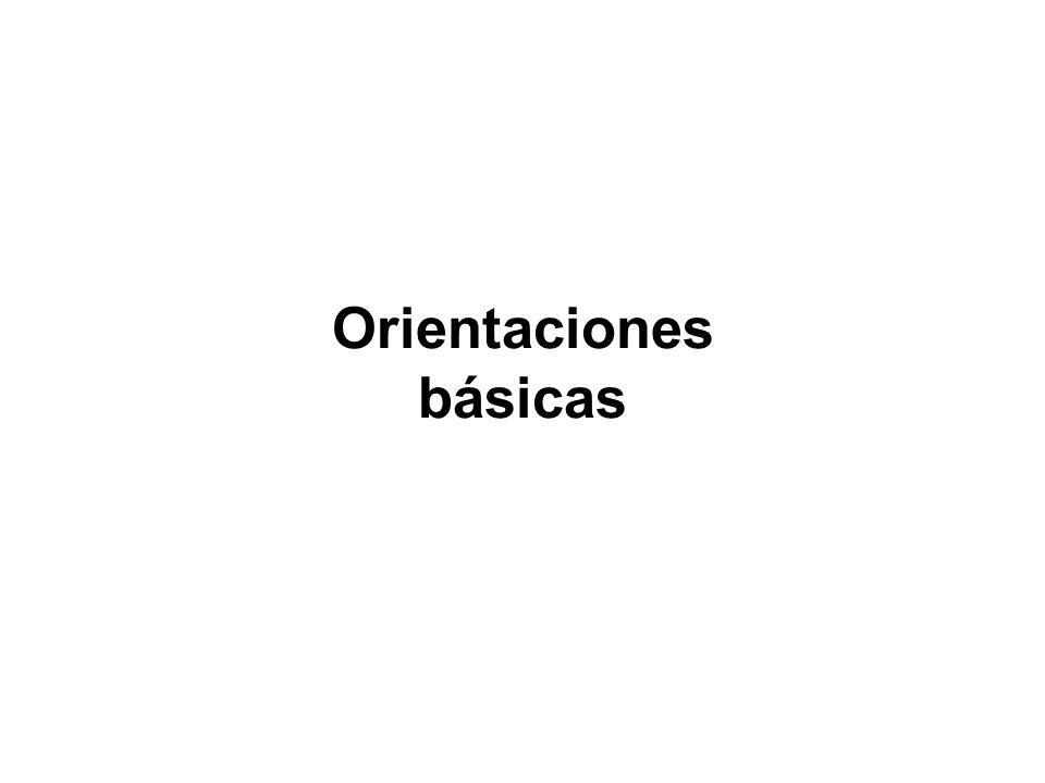 Orientaciones básicas