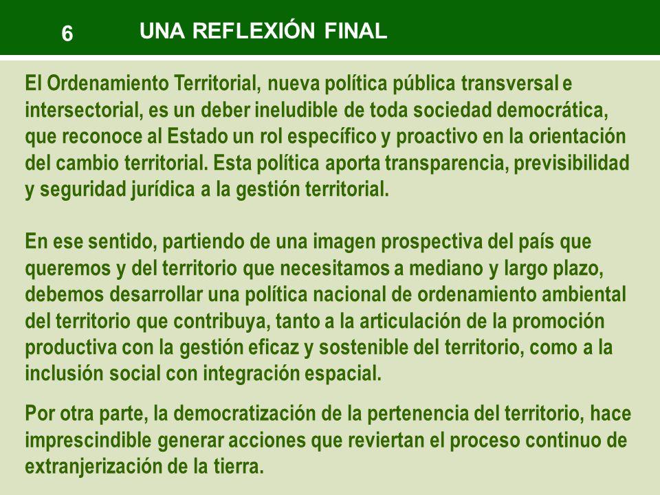 6 UNA REFLEXIÓN FINAL.