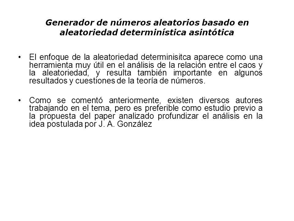 Generador de números aleatorios basado en aleatoriedad determinística asintótica