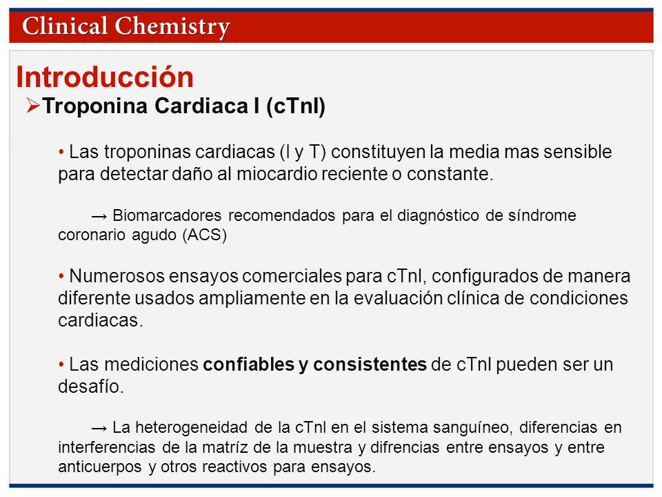 Introducción Troponina Cardiaca I (cTnI)
