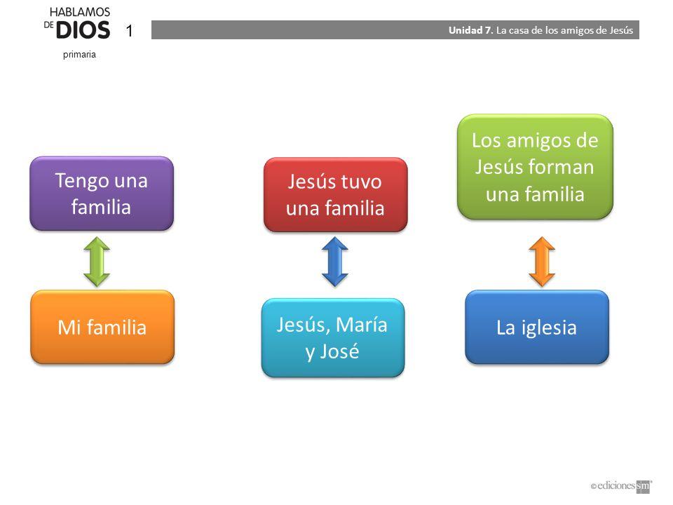 Los amigos de Jesús forman una familia