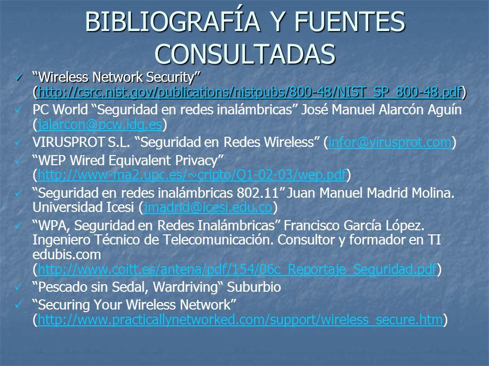 BIBLIOGRAFÍA Y FUENTES CONSULTADAS