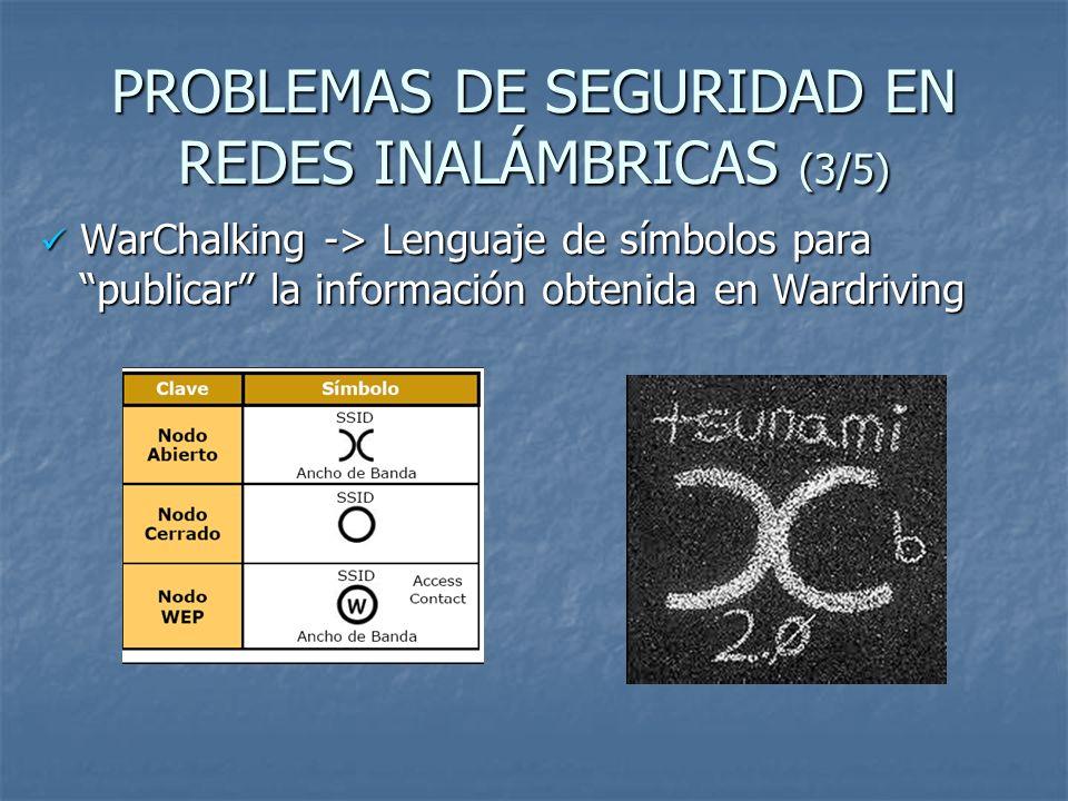 PROBLEMAS DE SEGURIDAD EN REDES INALÁMBRICAS (3/5)