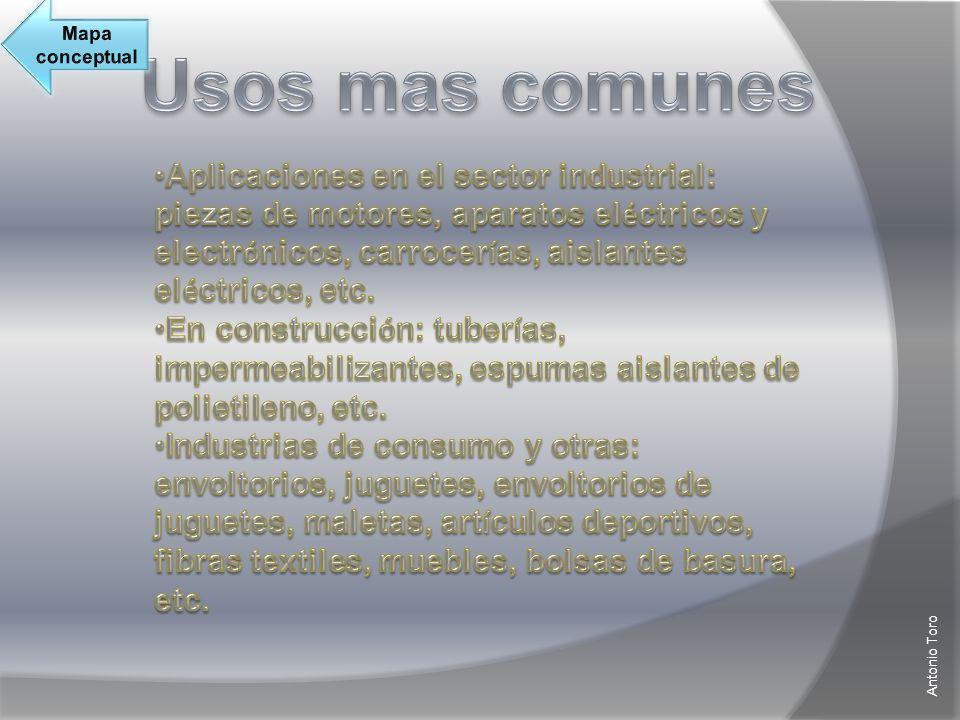 Mapa conceptual Usos mas comunes.