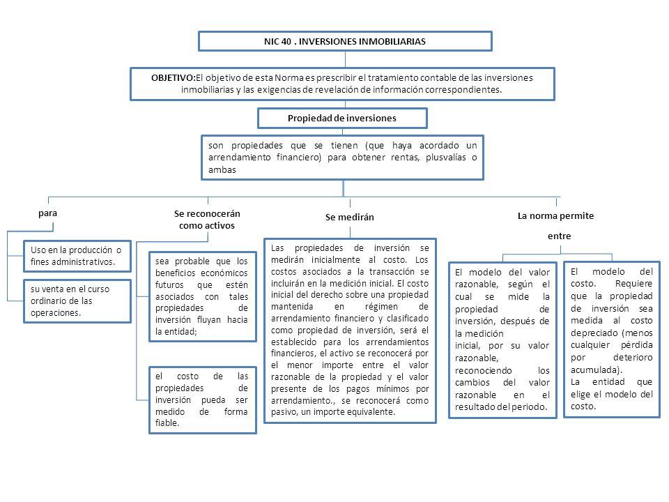 NIC 40 . INVERSIONES INMOBILIARIAS