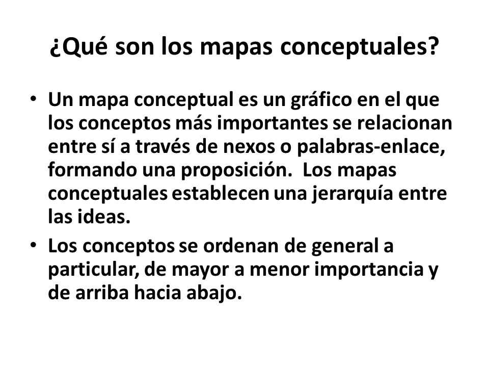 ¿Qué son los mapas conceptuales