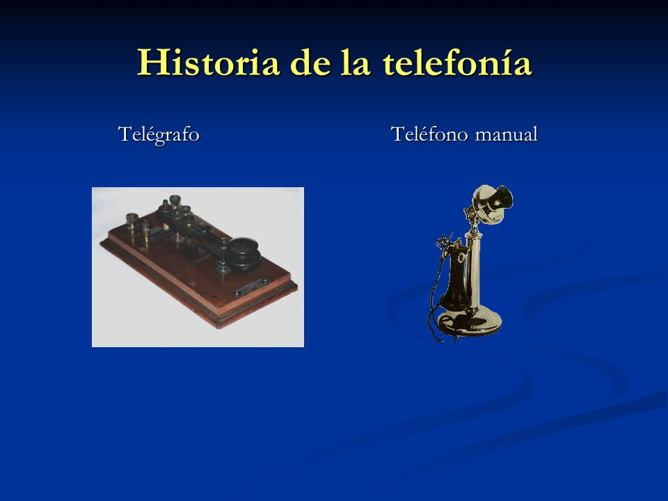 Historia de la telefonía