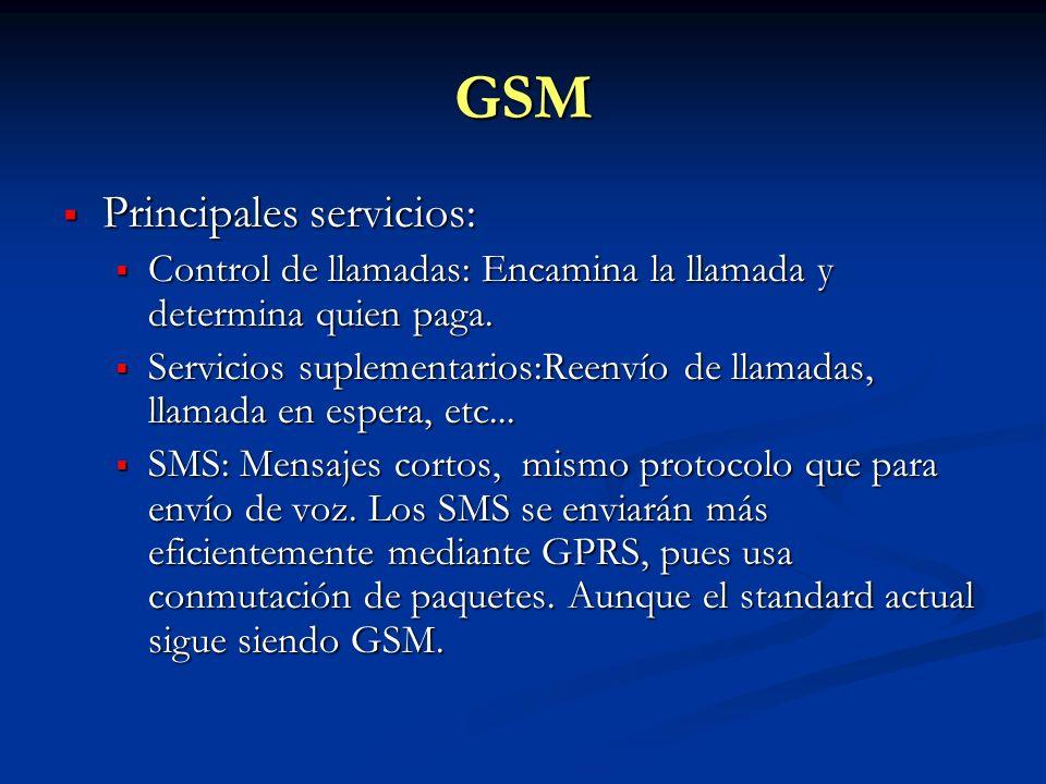 GSM Principales servicios: