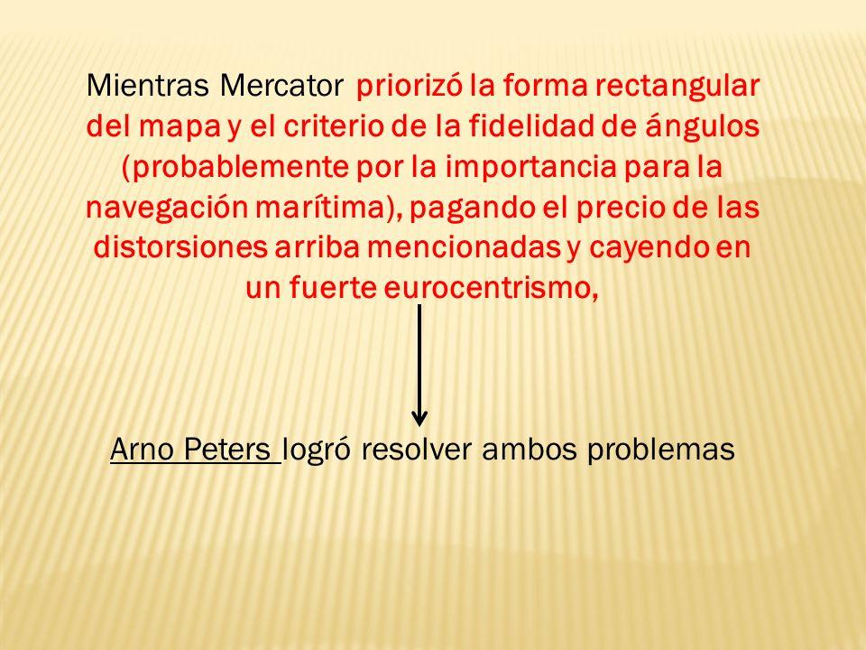 Arno Peters logró resolver ambos problemas