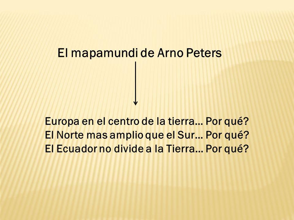 El mapamundi de Arno Peters