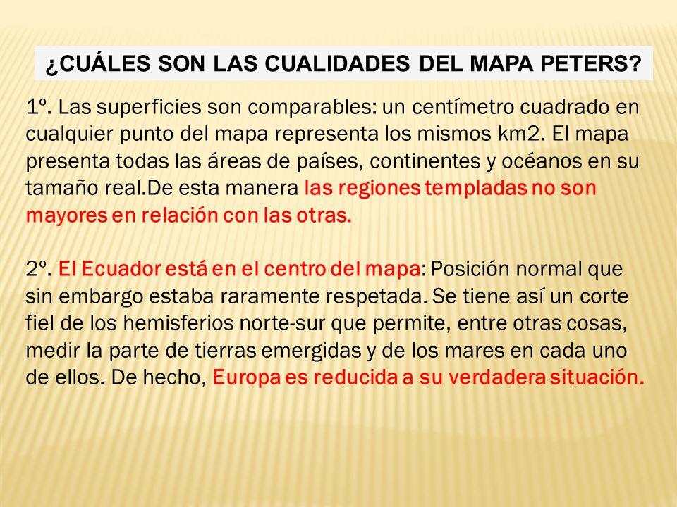 ¿CUÁLES SON LAS CUALIDADES DEL MAPA PETERS