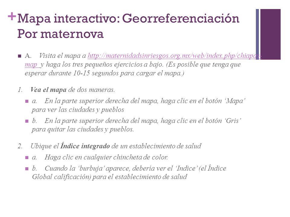 Mapa interactivo: Georreferenciación Por maternova