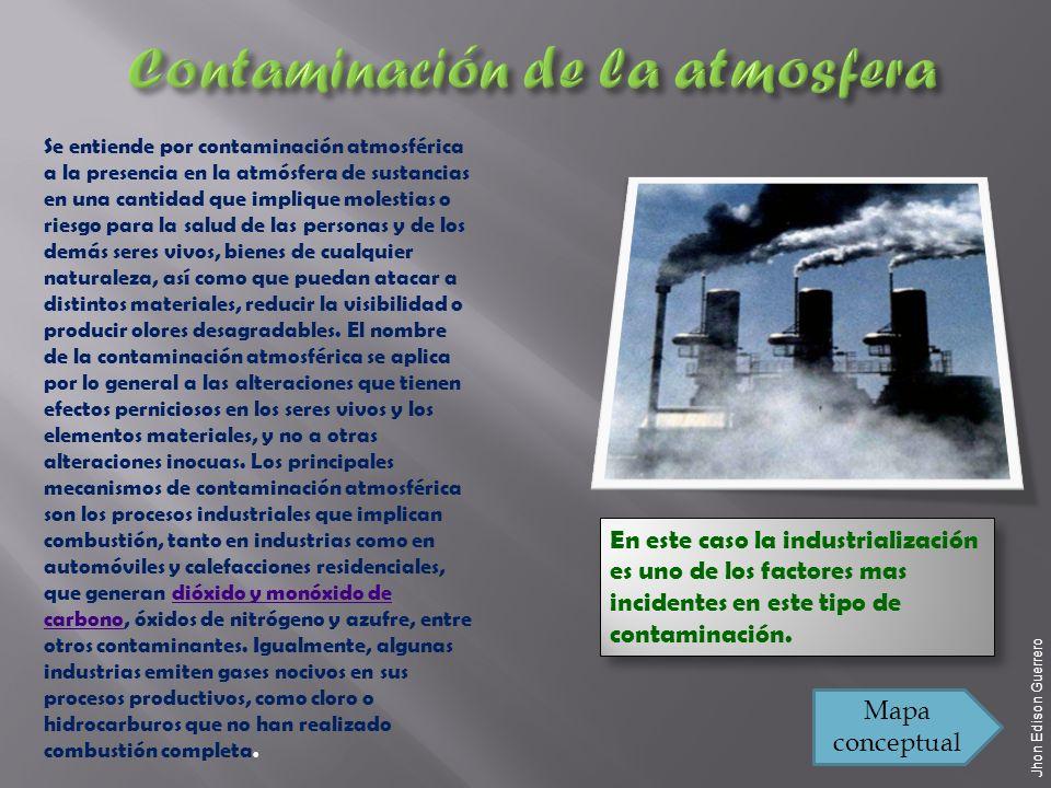 Contaminación de la atmosfera