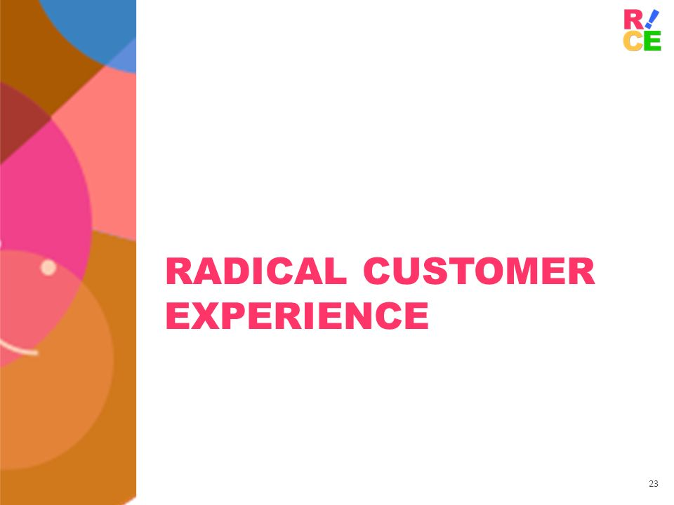 Radical Customer Experience