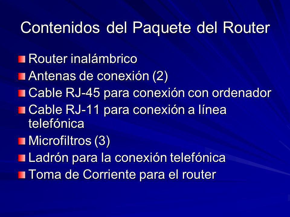 Contenidos del Paquete del Router