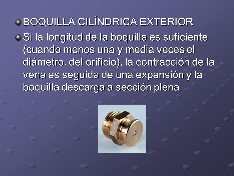 BOQUILLA CILÍNDRICA EXTERIOR