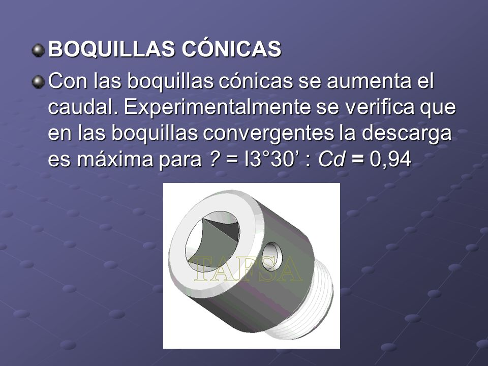 BOQUILLAS CÓNICAS