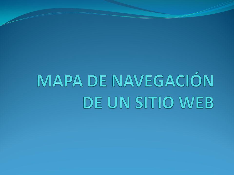 MAPA DE NAVEGACIÓN DE UN SITIO WEB