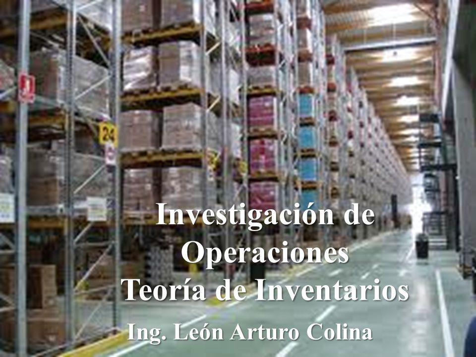 Investigación de Operaciones Teoría de Inventarios