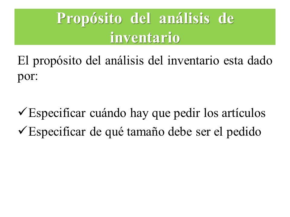 Propósito del análisis de inventario