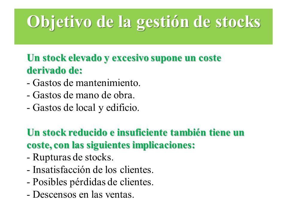Objetivo de la gestión de stocks