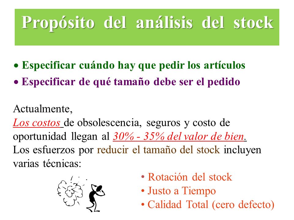 Propósito del análisis del stock