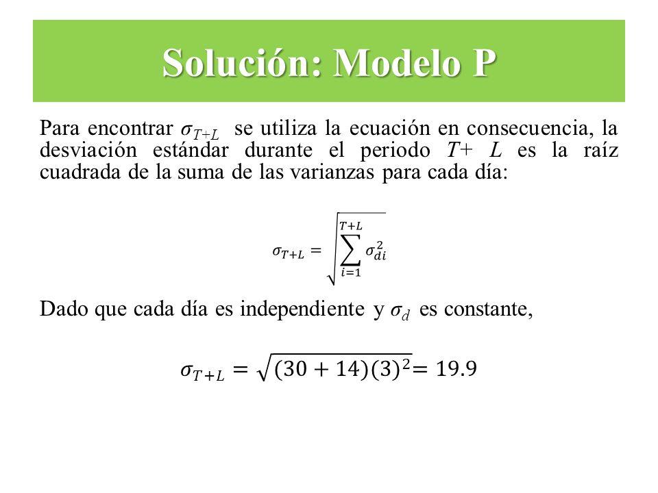 Solución: Modelo P