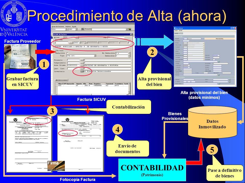 Procedimiento de Alta (ahora)