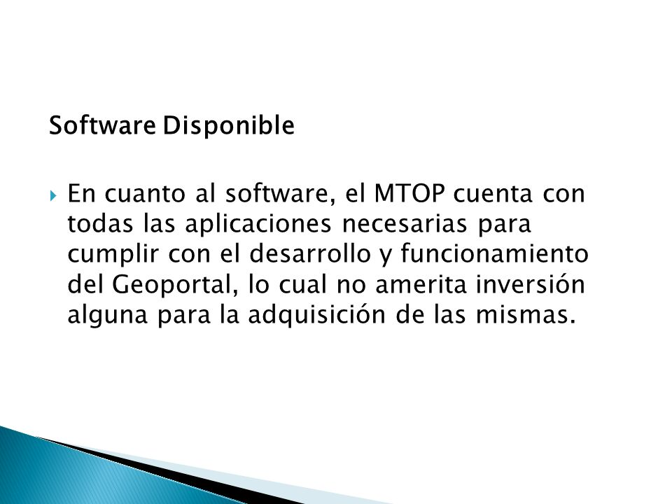 Software Disponible