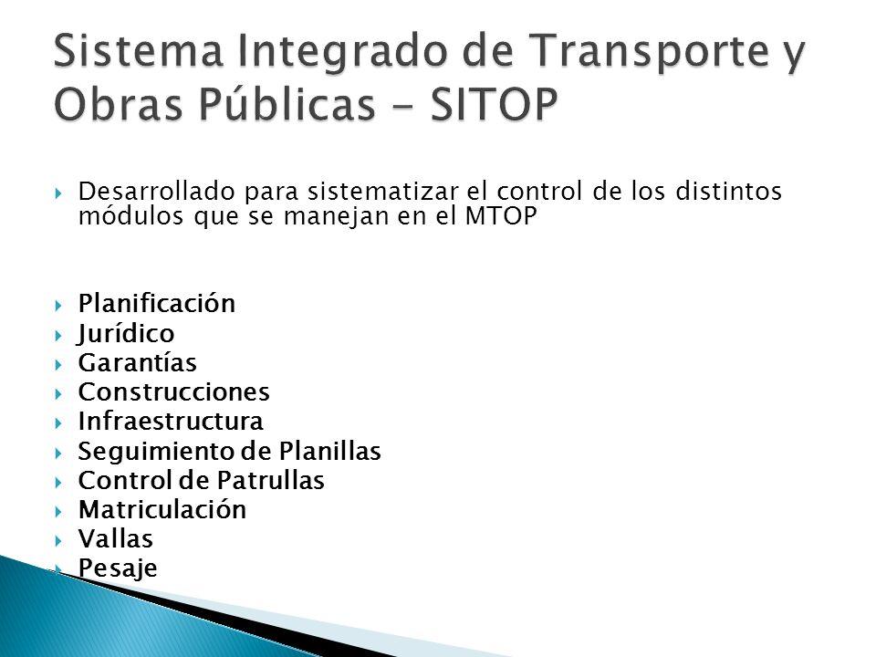 Sistema Integrado de Transporte y Obras Públicas - SITOP