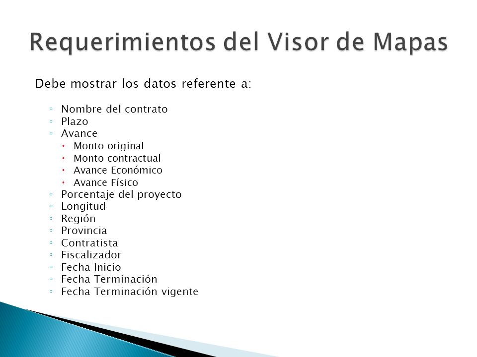 Requerimientos del Visor de Mapas