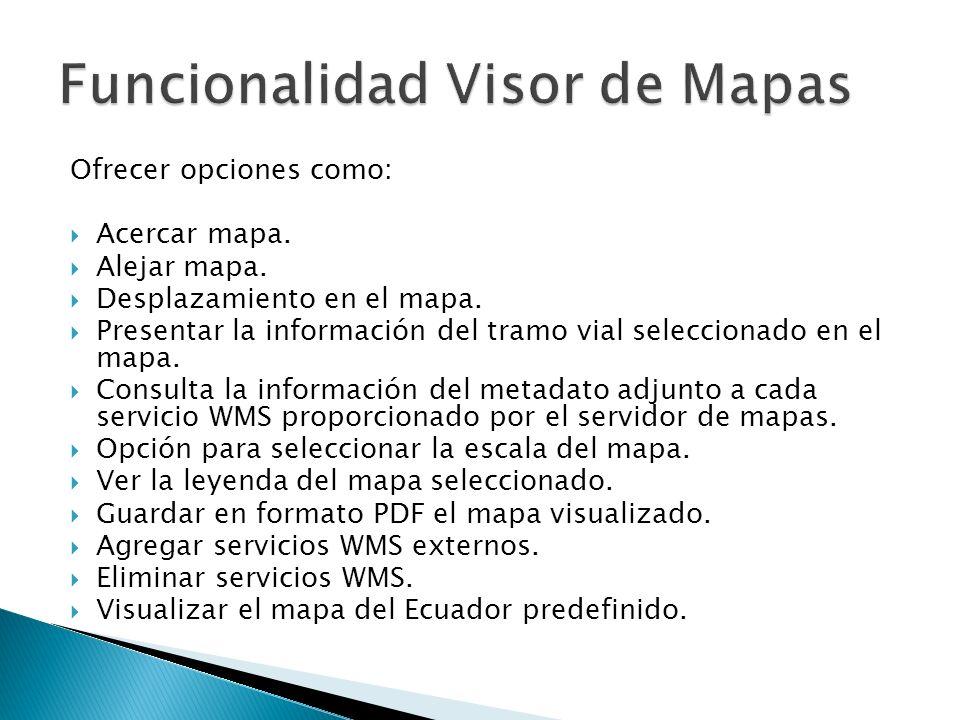 Funcionalidad Visor de Mapas
