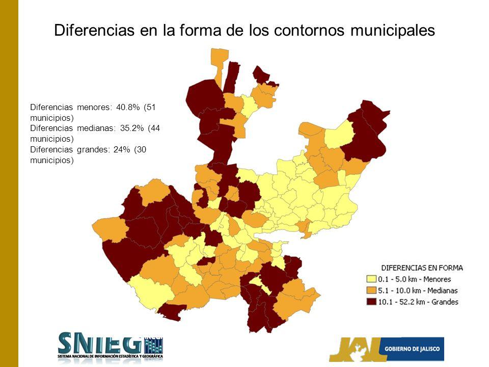 Diferencias en la forma de los contornos municipales