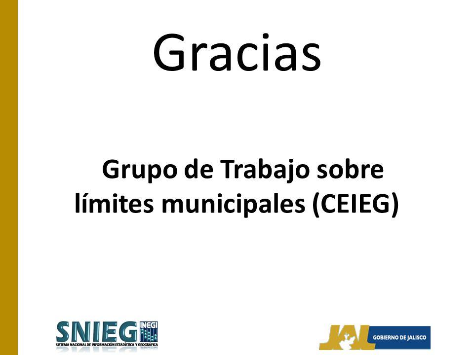 Grupo de Trabajo sobre límites municipales (CEIEG)