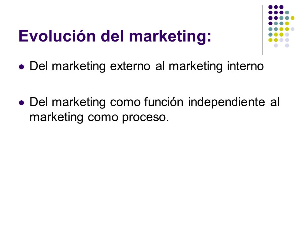 Evolución del marketing: