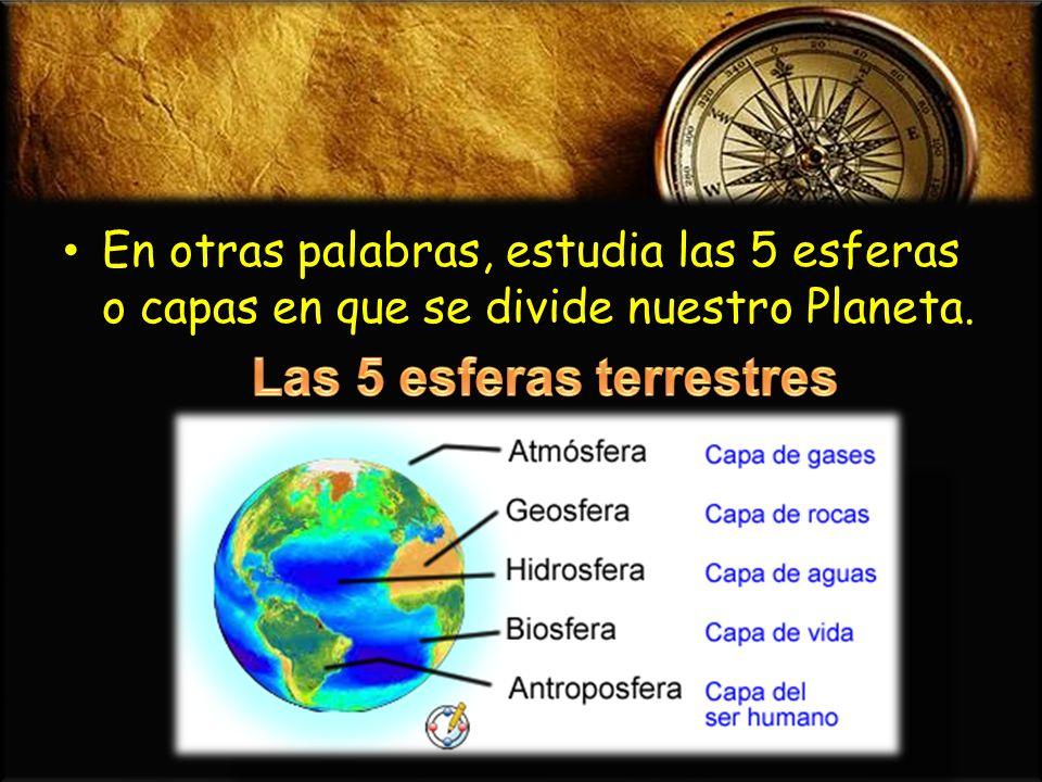 Las 5 esferas terrestres
