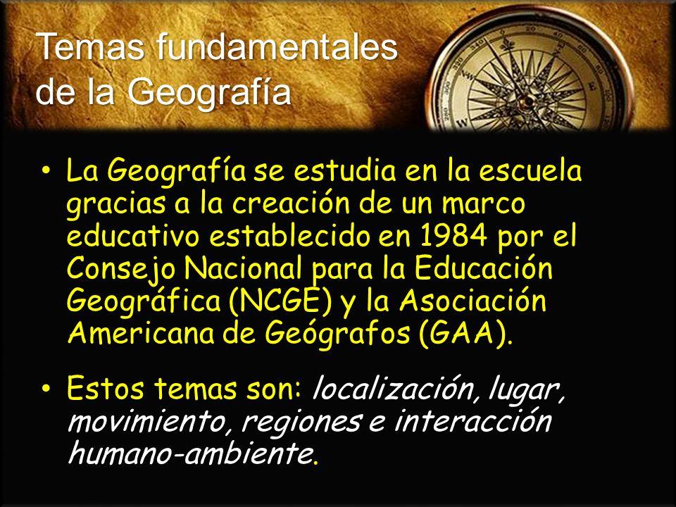 Temas fundamentales de la Geografía