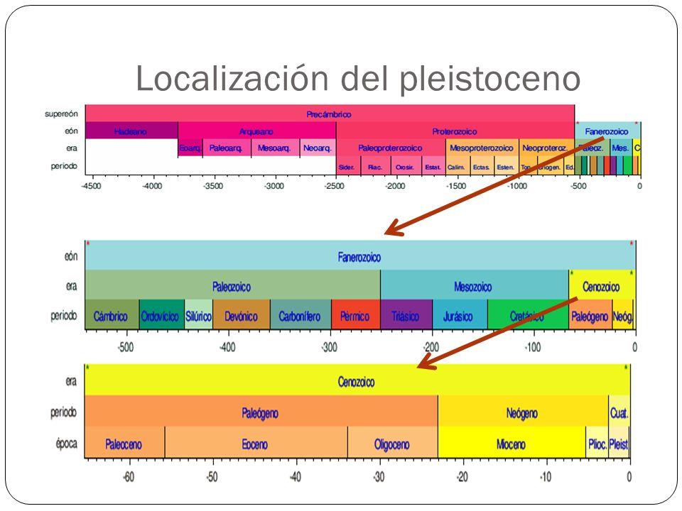 Localización del pleistoceno
