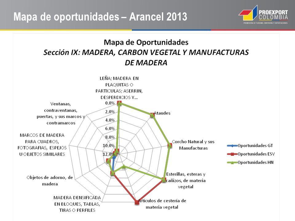 Mapa de oportunidades – Arancel 2013